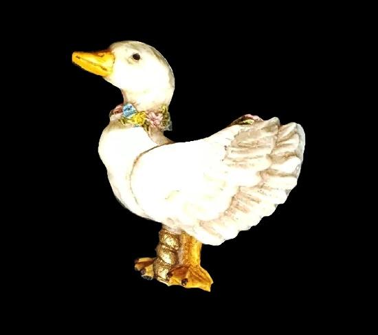 Mother Goose Carousel brooch pendant. 1988