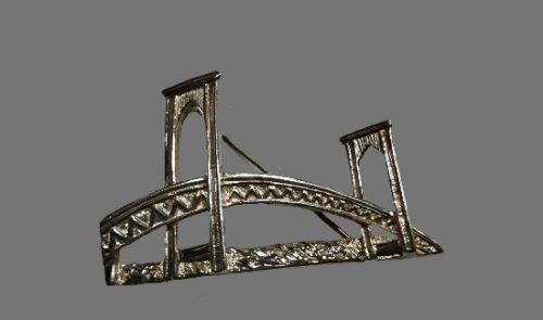 Newport Bridge sterling silver pin