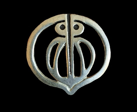 Owl Celtic design openwork brooch