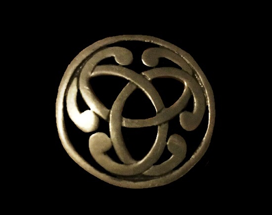 Pierced pewter celtic knot brooch