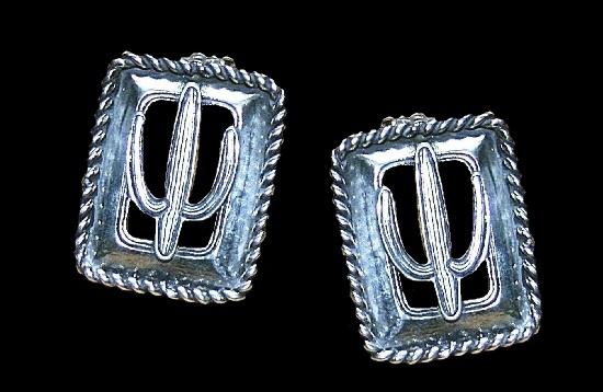 Sterling Silver Cactus Post Earrings