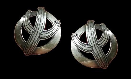 Vintage Sterling Cactus Earrings