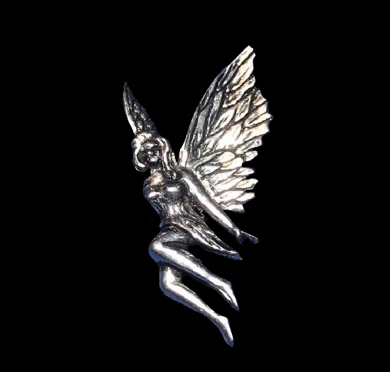 Winged fairy brooch pin