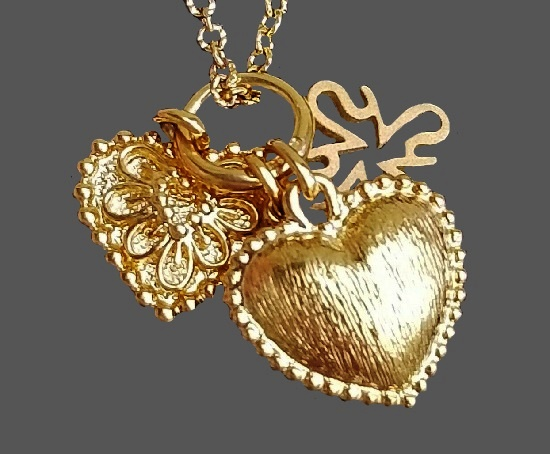 18 K gold plated sterling silver heart pendant