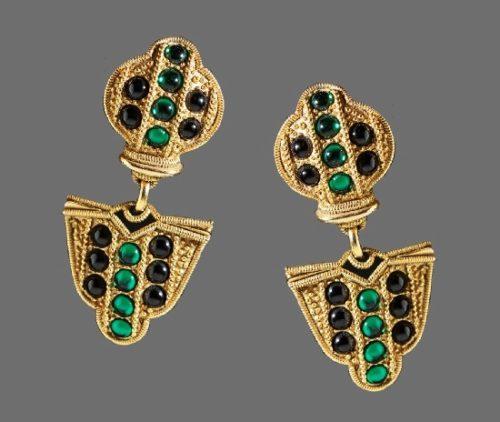 Signed HR Helena Rubinstein vintage costume jewelry