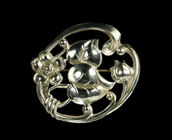 Antique 1940s Water Lily brooch