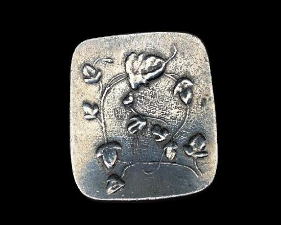 Bindweed pin. Pewter. 1950s