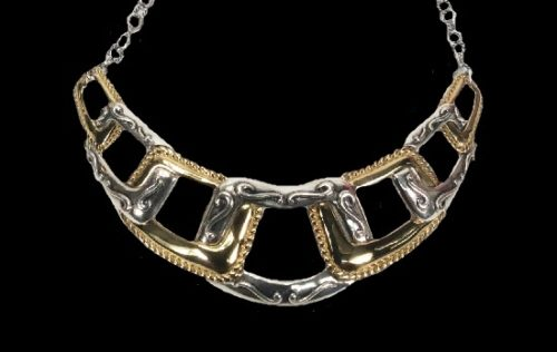 Brass and 925 sterling silver necklace