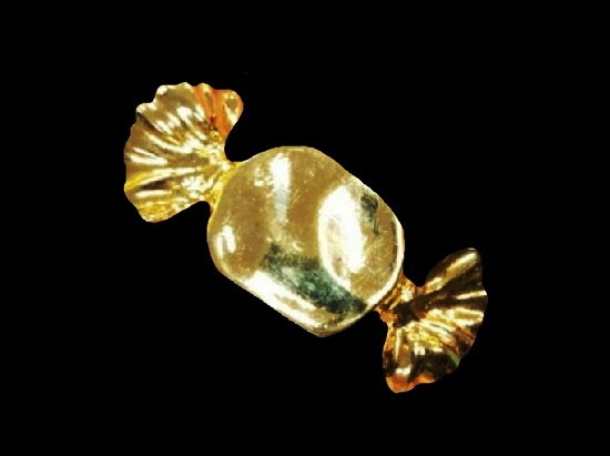 Candy gold tone pin