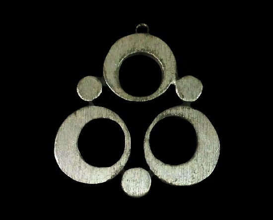 Circle design necklace. Pewter. 1950s
