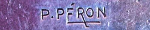 Designer's stamp P. Peron