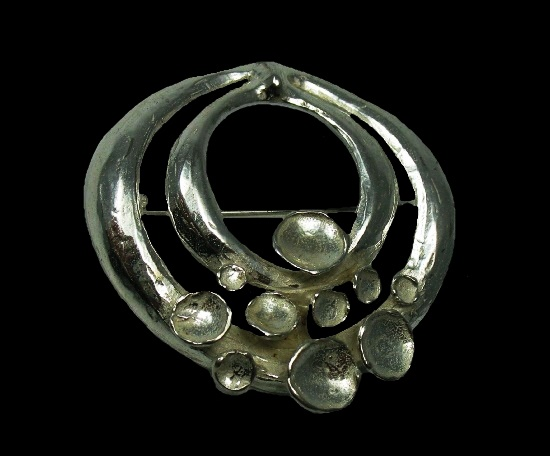 Gorgeous sterling silver brooch. 1960s