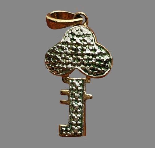 Key sterling silver pendant
