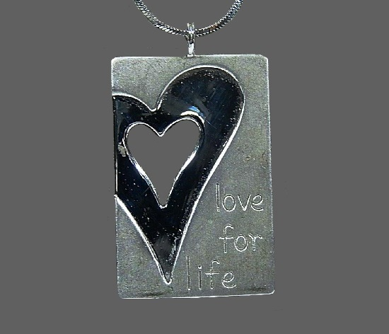 Love for life sterling silver pendant