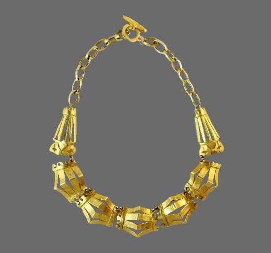 Mixed metals gold plated vintage necklace