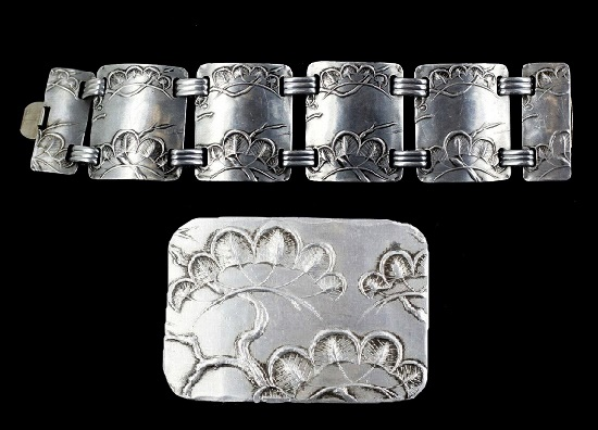 Nature design aluminium bracelet