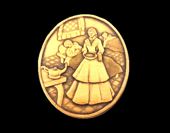 Nursing a tradition of caring. Made exclusively for District three O.N.A. Bronze brooch. 1997