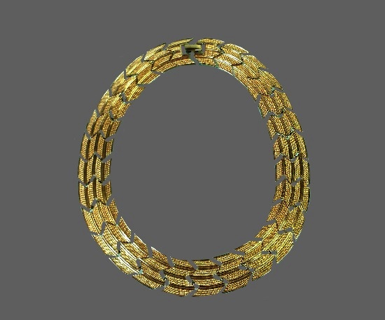 P. Gucci for Pierre Cardin gold tone choker necklace