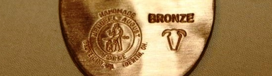 Engraving indicating the use of bronze and traditional marking