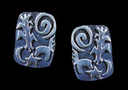 Southwestern design sterling silver earrings