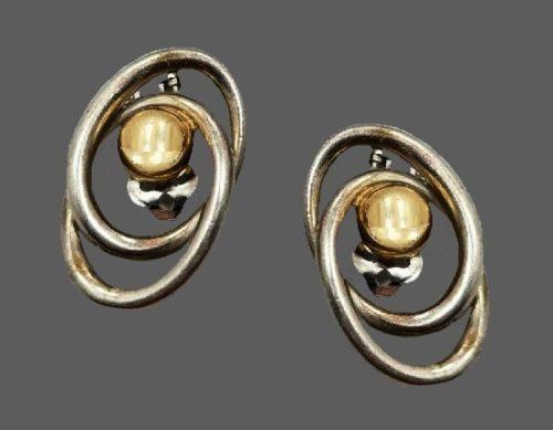 Sterling silver 14 gold earrings