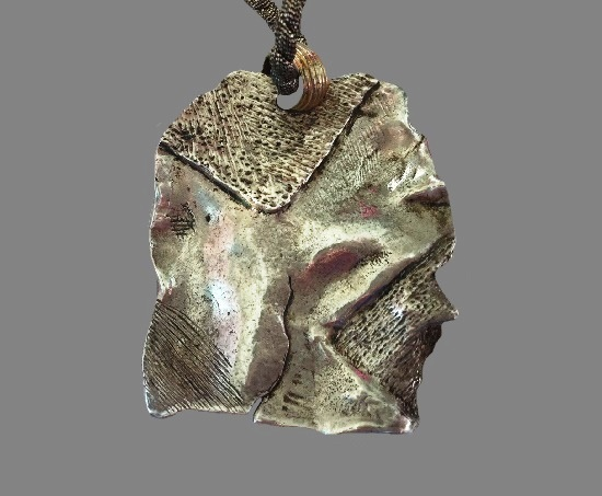 Sterling silver abstract design vintage pendant