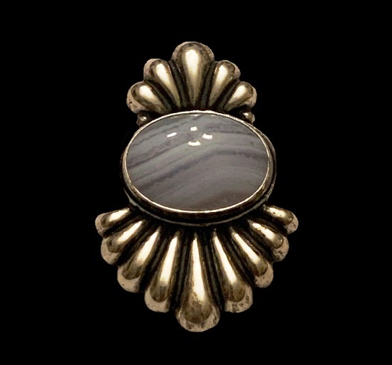 Striped Jasper sterling silver pendant