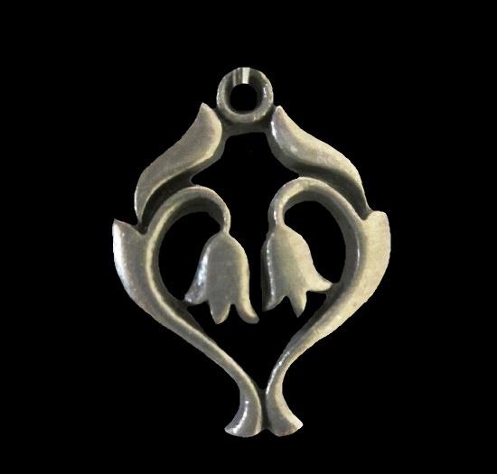 Tulip pendant. Pewter, 1960s