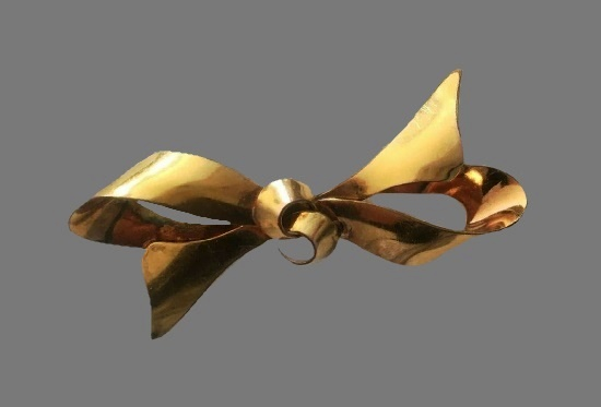 12 K gold filled bow brooch