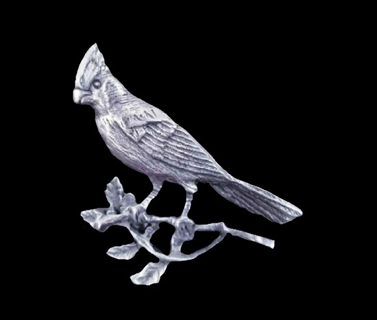 Cardinal pewter lapel pin