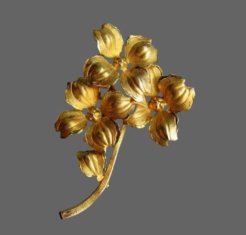 Daffodil flower 12 K gold filled brooch