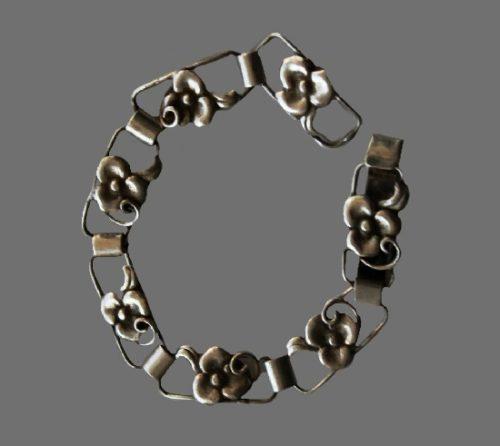 Floral design 830 silver bracelet