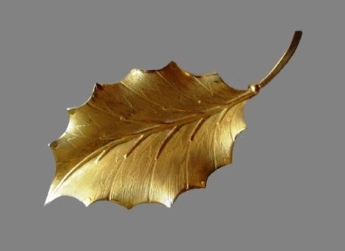 Holy leaf 12 K gold filled brooch