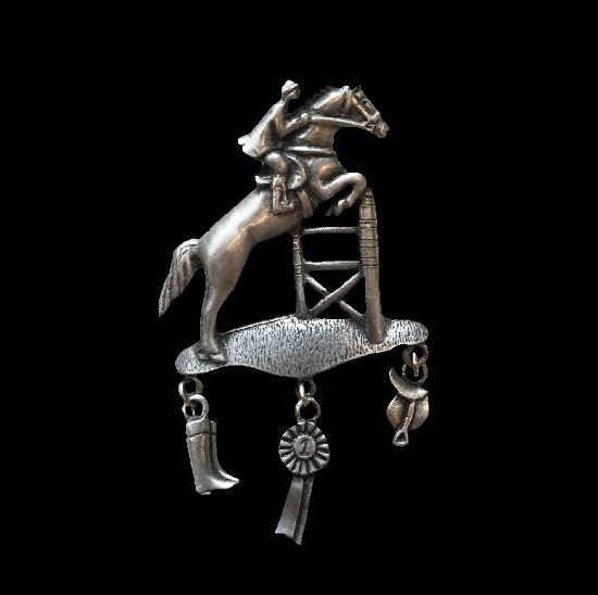 Horse Racer Pewter lapel pin