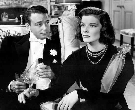Katharine Hepburn wearing Flato jewels in 'Holiday'