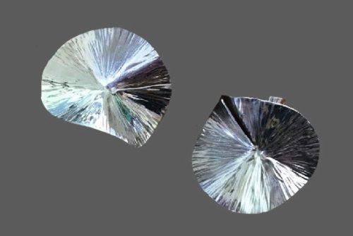 Modernist Sterling Silver Designer Earrings. 1983