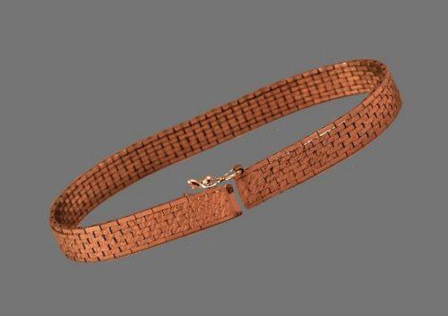 Modernist design bracelet. 830 silver