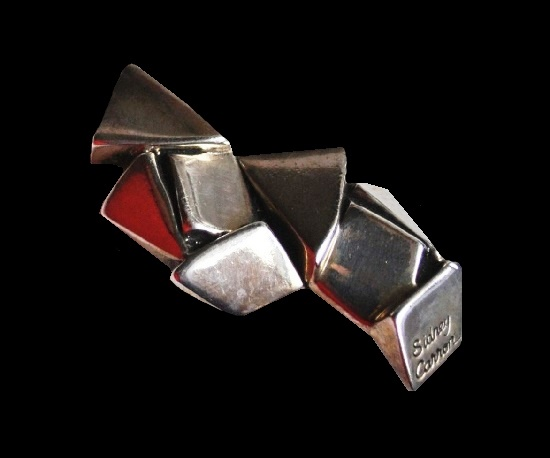 Nuggets design silver plated brooch