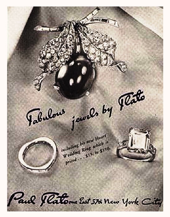 Retro ads. Fabulous jewels by Flato
