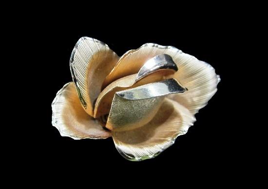 Rose flower 12 K gold filled brooch pin