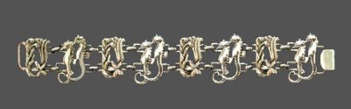 Seahorse design sterling silver bracelet