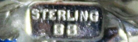 Signed sterling BB in rectangular