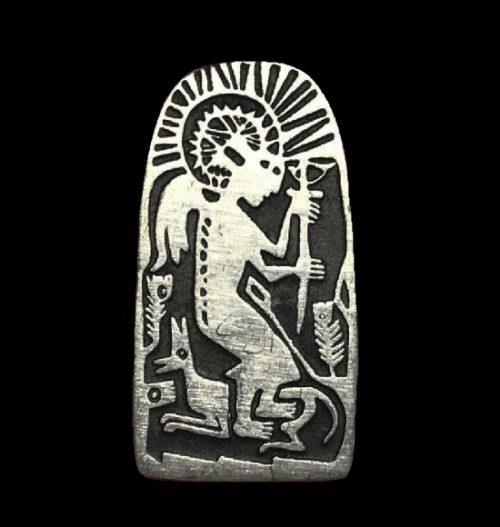 Angel pewter pin