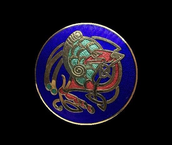 Bird design Celtic brooch