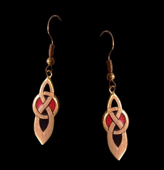 Celtic knot 22 K gold plated earrings