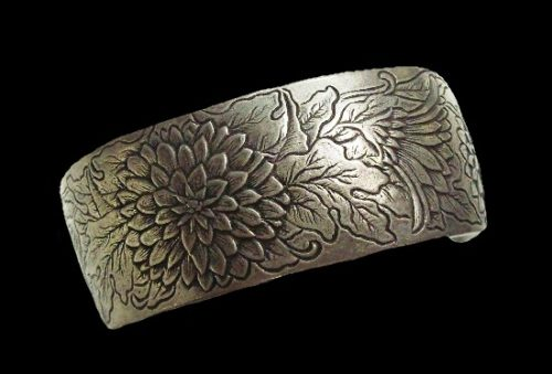 Dahlia vintage cuff bracelet