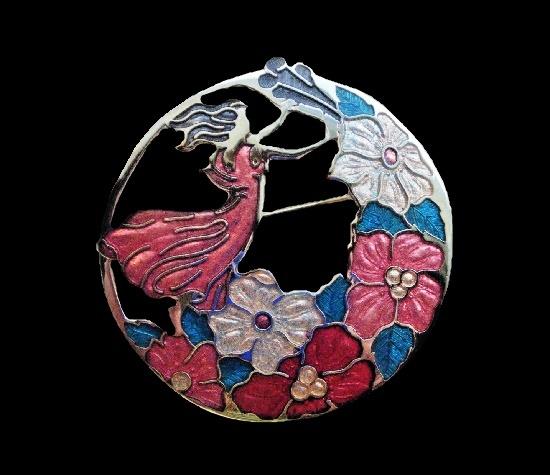 Figural flower pierced pin