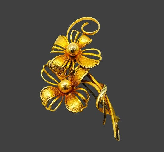 Flower pin. 12 K gold filled