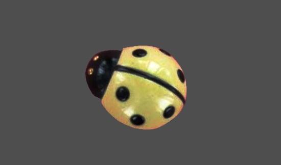 Ladybug plastic brooch pin