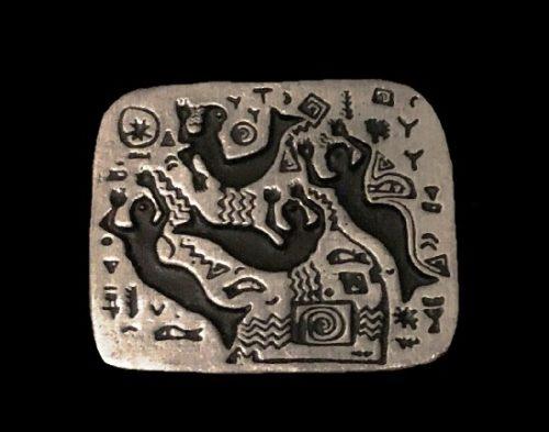 Mermaids pewter brooch. 1998